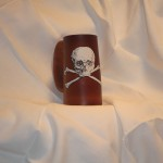 Skull Flagon- White