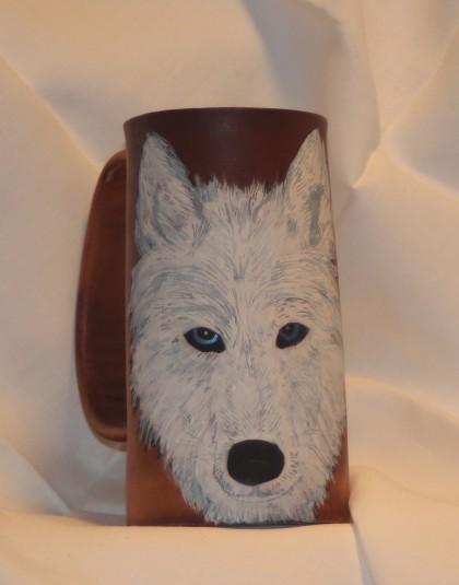 Wolf Flagon- White